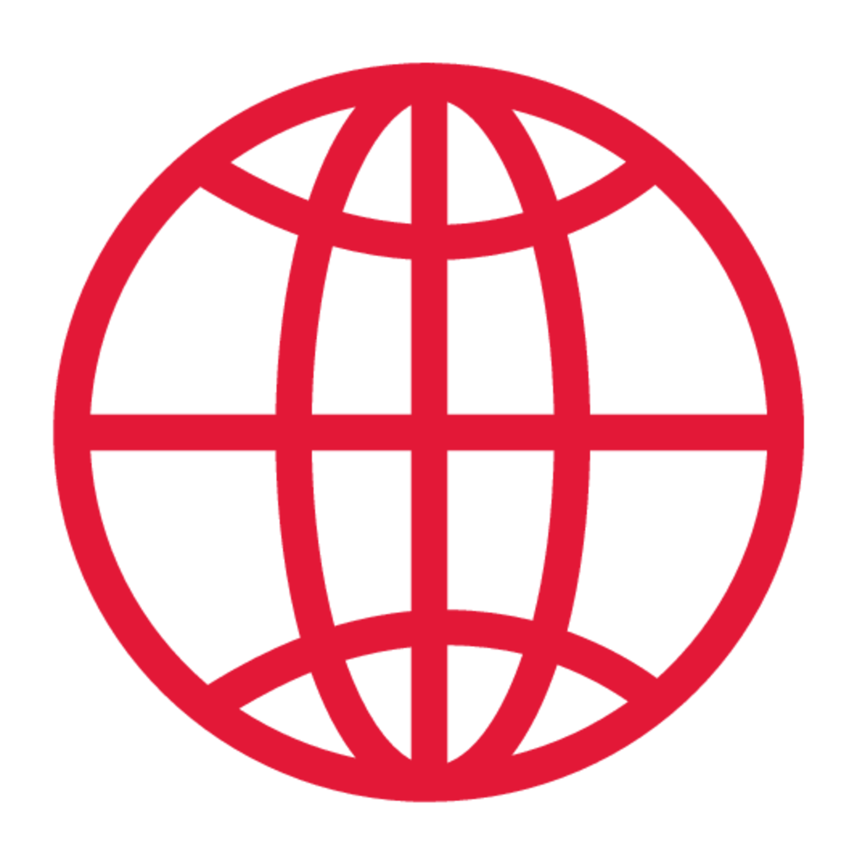 gridline version of the globe.